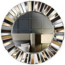 gold wand runder spiegel gespiegeltes 3d glas wohnzimmer flur schlafzimmer