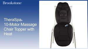 React Massage Chair Brookstone by Theraspa 10 Motor Massage Chair Topper With Heat Youtube