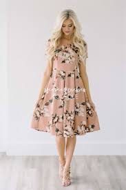 dusty mauve floral dress modest bridesmaids dress cute modest