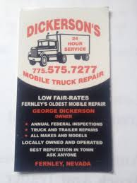 Truck Repairs In Fernley, NV | Dickerson's Mobile Truck Repair (775 ... Bw Diesel Truck Repair In Muldrow Ok 24 Hour Find Service Repairs Fernley Nv Dickersons Mobile 775 Emergency Tire Full Superior Mobil Hr Road Assistant Auto Little Bras Dor Home Don Hatchers Heavy Toronto Niagara Towing Services Livingston Mt Whistler Inc After Hours Sydney Queens Brooklyn Ny Lakeville Duty Jl Fox General Contractors Box Truck Graphics J E Opening Po Box 467 Alexandria On Commercial Mechanic Tlg