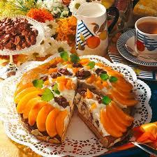 pfirsich schoko knusper pralinen torte