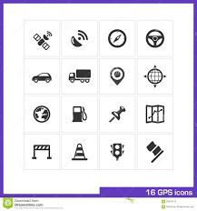 100 Truck Gps App GPS Icon Set Stock Vector Illustration Of Construction