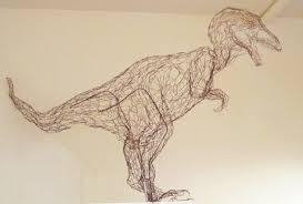 Animal Kingdom Wire Sculpture T Rex