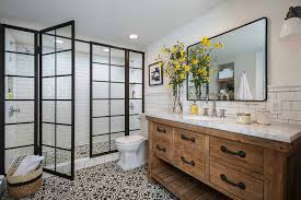 25+ Incredibly Stylish Black And White Bathroom Ideas To Inspire Fancy Mid Century Modern Bathroom Layout Design Ideas 21 Small Decorating Bathroom Ideas Small Decorating On A Budget Singapore Bathrooms 25 Best Luxe With Master Style Board Lynzy Co Accsories Slate Tile Black Trim Home Unique Mirror The Newest Awesome 20 Colorful That Will Inspire You To Go Bold Better Homes Gardens