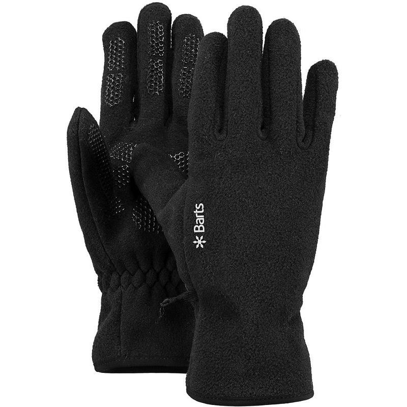 Barts Fleece Short Finger Gloves - Black, Small