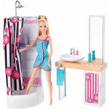 Pink Bathroom Sets Walmart by Barbie Doll And Bathroom Set Walmart Com