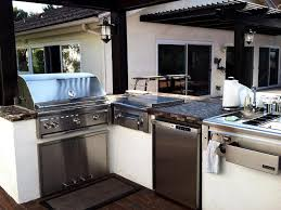 Modern Home Design With Minimalist Outdoor Kitchen Using L Shaped Ideas