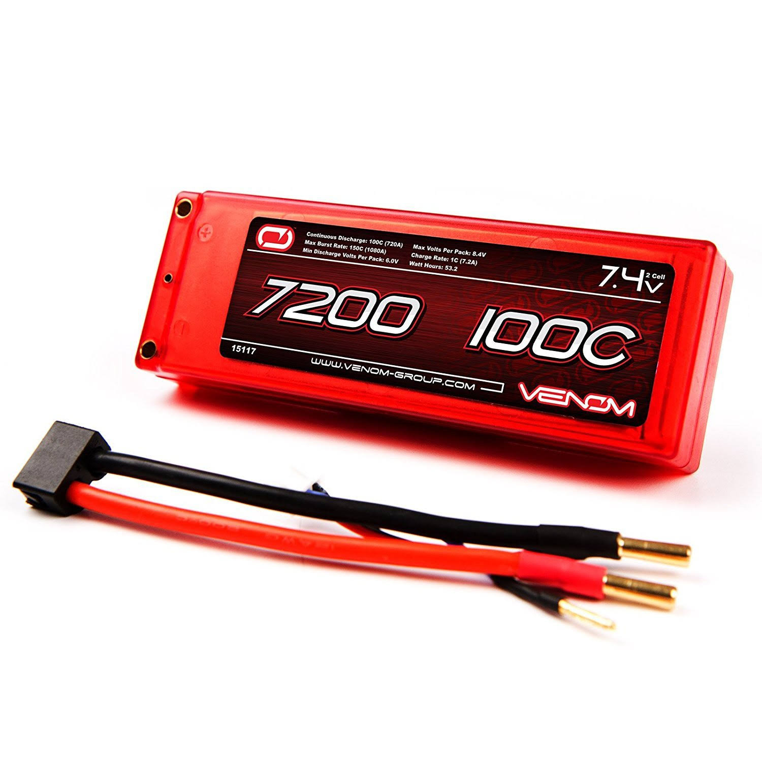 Venom Lipo Battery - 7200mah, 100C, 7.4V