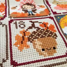 Frosted Pumpkin Stitchery Kit by Boogaj Cross Stitch