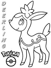 Coloring Books Pokemon Deerling To Print And Free Download