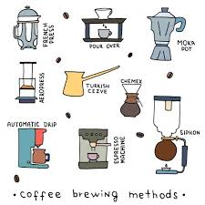 Cute Drawings Of Lots Different Coffee Brewing Methods
