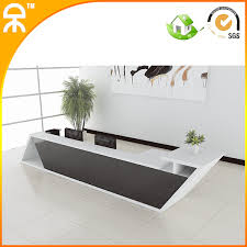 39meter 127ft2014 New Design Fashionable White Wooden Reception Table Counters With