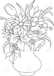 Flower Bouquet Drawings How To Draw Flower Bouquets Drawing A Flower Vase Flower