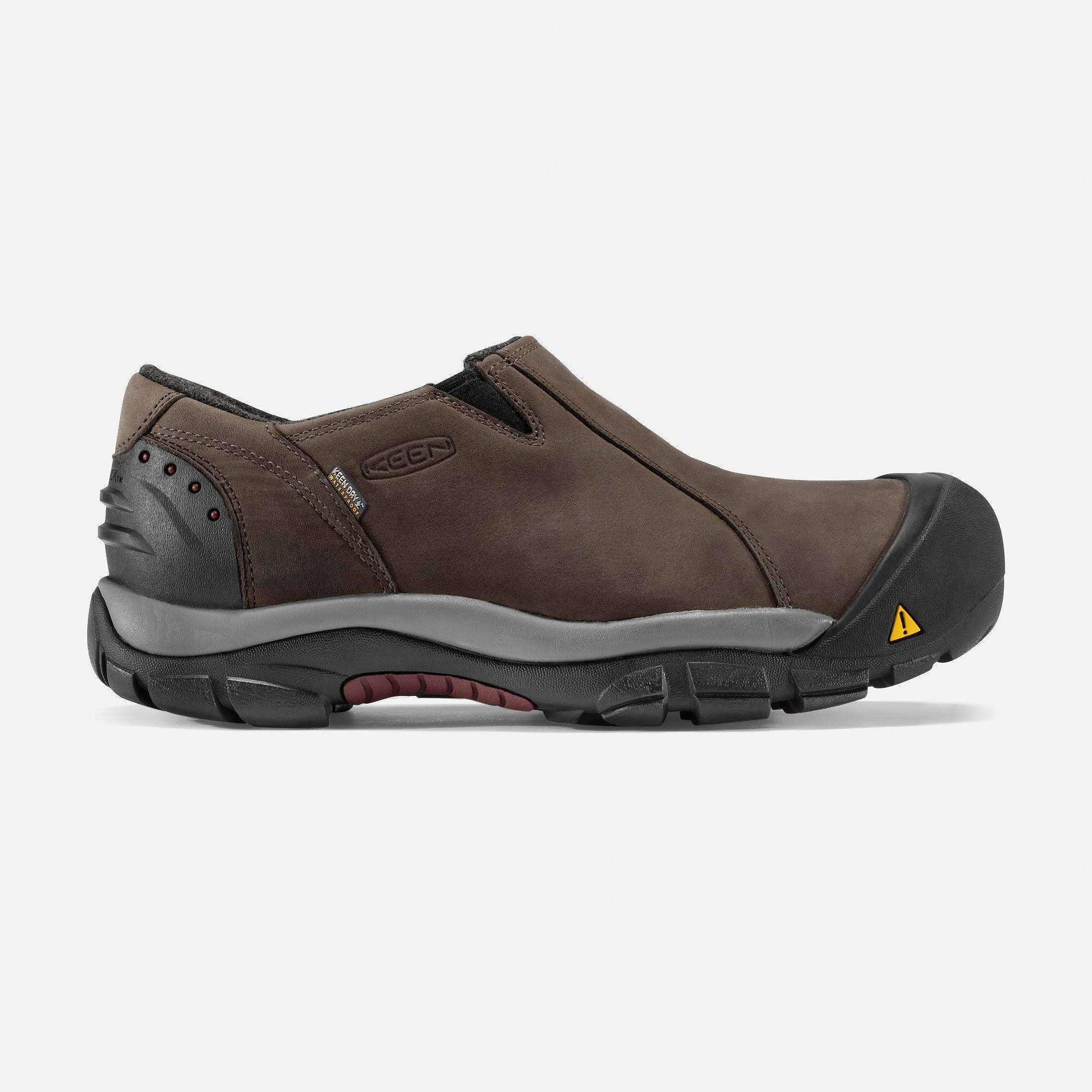 Keen Men's Brixen Waterproof Low (10 Slate Black/Madder Brown)