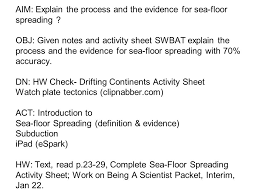 Sea Floor Spreading Subduction Animation by Aim Explain The Process And The Evidence For Sea Floor Spreading