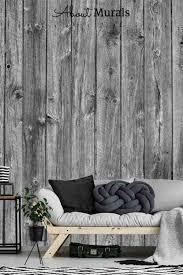 holzoptik tapete schwarz möbel wand zimmer wohnzimmer
