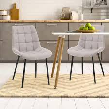 modernluxe 2 stk esszimmerstühle samt stuhl polsterstuhl grau sessel stoffkissen akzentstühle grau