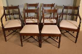 100 Regency House Furniture A Fine Quality Set Of Six Dining Chairs 1820 England From