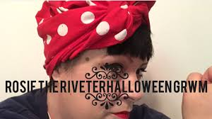 Rosie The Riveter Halloween Tutorial by Halloween Tutorial Rosie The Riveter Youtube