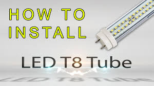 how to install led t8