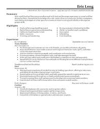 Sample Resume Food Service General Manager Professional Restaurant Examples Resources And