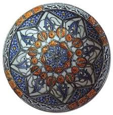 moroccan wall decor centerpiece large ceramic bowl plate inlay