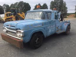 1960 Ford F350 Tow Truck Wrecker Holmes 400 Super Patina Rat Rod ...