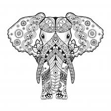 African Elephant Coloring Page