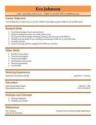 Babysitter Resume Sample Manager Cv