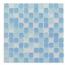 splashback tile selection iced blue arabesque glass mosaic