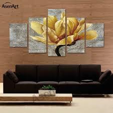 leinwand wand kunst moderne spray malerei gold orchidee blume gerahmte morden druck malerei poster wohnzimmer wand wohnkultur картина