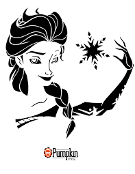 Disney Pumpkin Stencils by Frozen Pumpkin Stencil Disney Pumpkin Patterns Pinterest