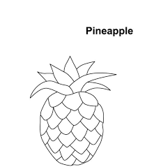 Download Coloring Pages Pineapple Page Printable Me For Kids