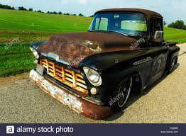 1956 Chevrolet Custom Rat Rod Pickup Truck Stock Photo: 87414679 - Alamy