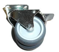Blickle Dual Wheel Soft Rubber Swivel Caster W 3