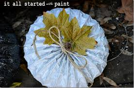 Dryer Vent Pumpkins Tutorial by Spray Painted Pumpkins