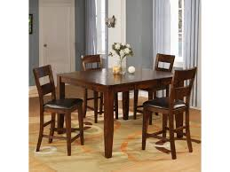 Warehouse M 1279 Mango Counter Pub Table Set With 4 Bar Stools ...