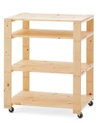 swedish wood shelving utility cart with wheels williams sonoma