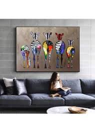 danjiao abstrakte zebra leinwand kunst gemälde an der wand