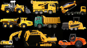 Surprise Construction Vehicles For Toddlers Learning Trucks And ...