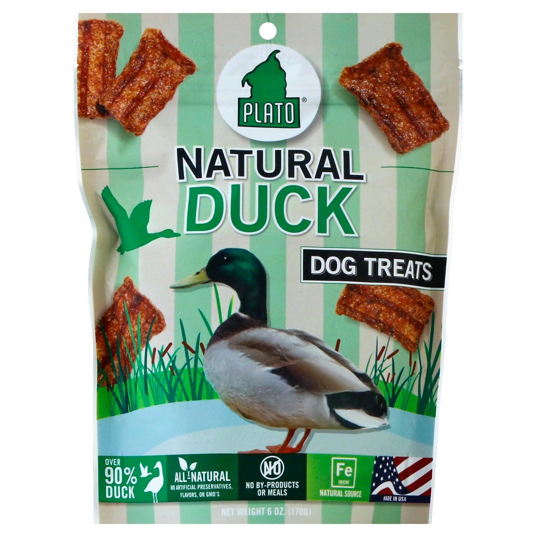 Plato Original Natural Duck Strips - 6oz