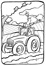 Tracteur Forestier Coloriage