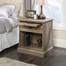 Sauder L Shaped Desk Salt Oak by Barrister Lane Night Stand 418705 Sauder