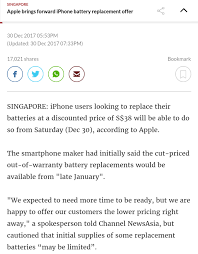 iPhone 6 Battery Replacement Cost in Singapore