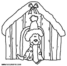 Dog Coloring Pages Within Christmas