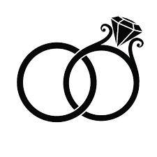Wedding Rings Silhouette vector art illustration