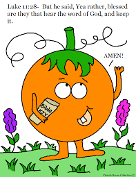 Pumpkin Patch Parable Craft by Pumpkin Holding Bible Coloring Page Luke 11 28 Blessed Are They