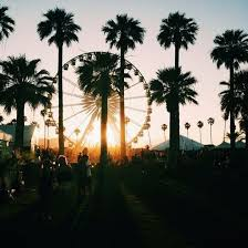 Cali California Coachella Desert Ferris Wheel Indio Palm Tree