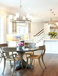 Transitional Lighting Fixtures Pendant Kitchen With Patterned Wallpaper Round Dining Table Style Chairs Li