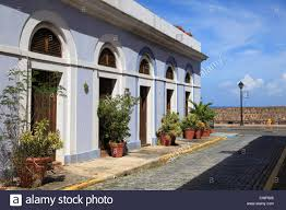 Colonial Architecture Old San Juan Puerto Rico USA Caribbean